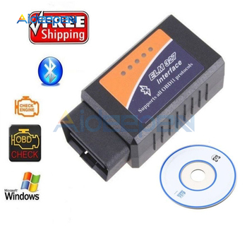 ELM327 OBD2 Bluetooth/WIFI V1.5 Car Diagnostic Tool ELM 327 OBD II Scanner Chip PIC18F25K80 for Android/IOS/Windows 12V image