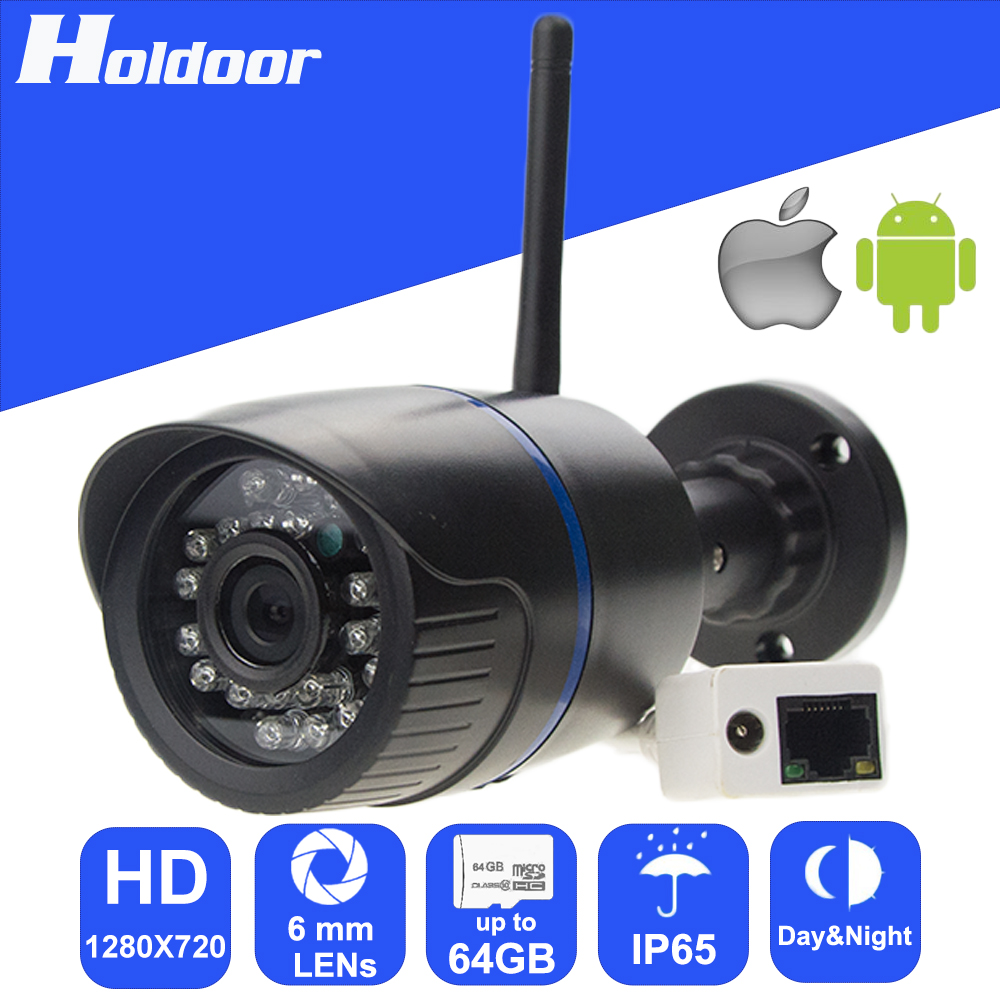 Security Camera with 1.0Megapixel CMOS 6mm HD Lens Resolution 720P Waterproof outdoor IR CUT day and night mode auto switch hd 720p p2p outdoor waterproof bullet ip camera 36led onvif 3 6mm lens 1 4 cmos sensor ir cut day night cctv security camera