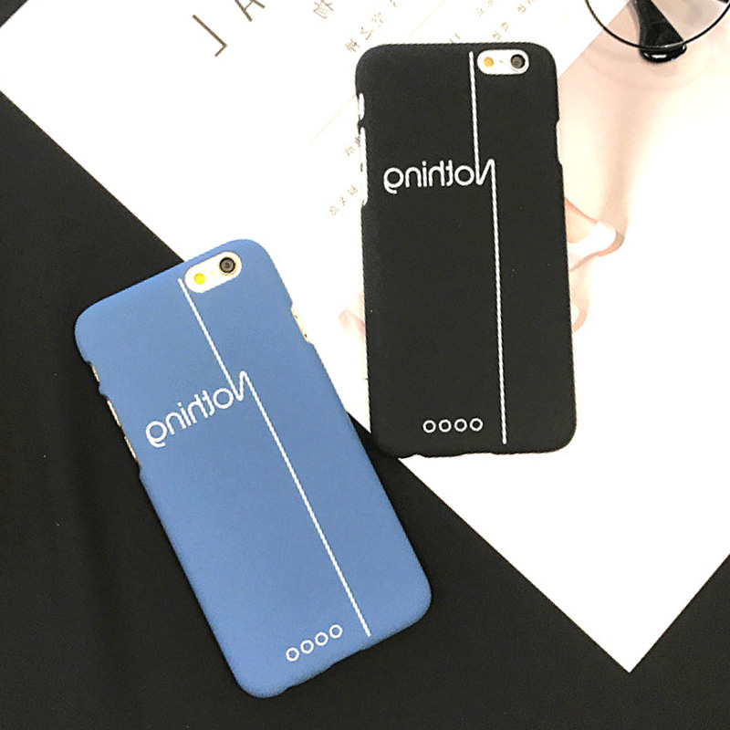 LUOYY FENJJ Simple Matte Case For iPhone 6 6s Plus 5 5s SE Back Cover Hard Plastic Protect Phone Case For iPhone 7 8 Plus Coque in Fitted Cases from Cellphones Telecommunications