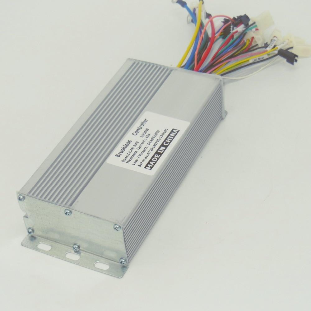 GREENTIME 15 Mosfets 48-84V 1500W 45Amax Dual mode Sensor/Sensorless Brushless DC Motor Controller