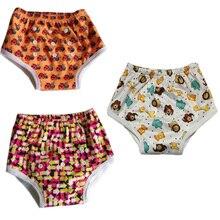 1 шт. милый ребенок Подгузники многоразовые памперсы, тканевые Подгузники моющиеся для младенцев; детские бамбуковые тренировочные штаны трусы детских подгузников, смены