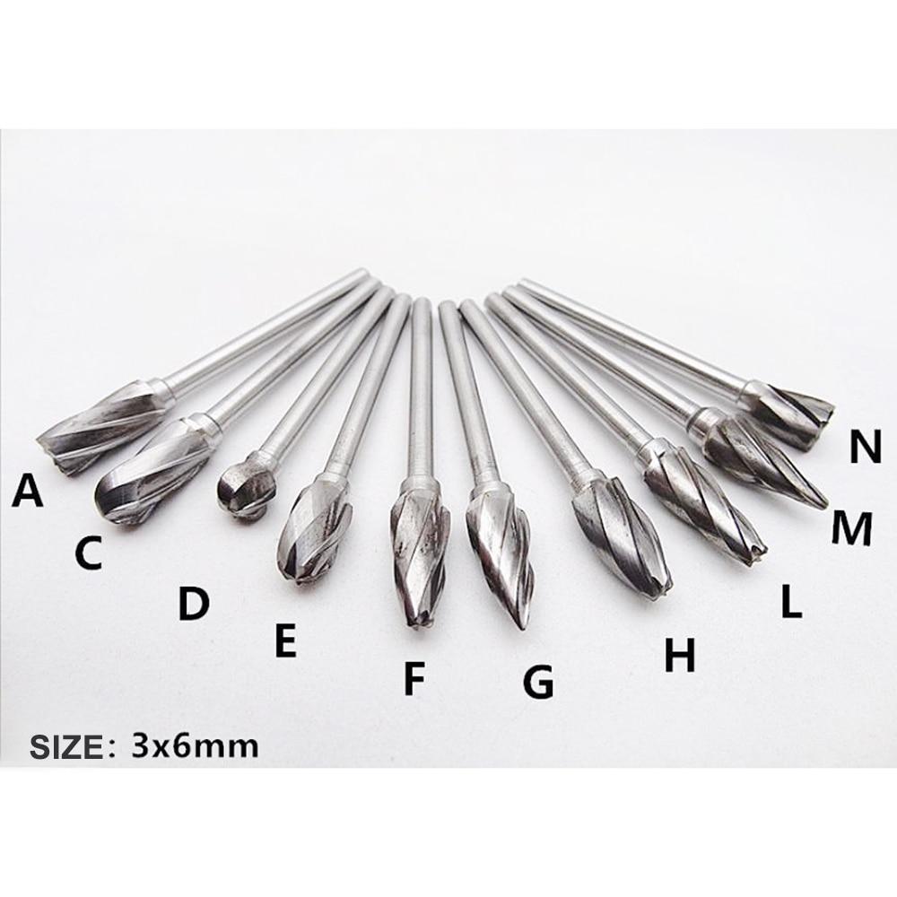 10 Pcs//Set Carbide Burr Aluma Cut Carbide Rotary Burrs For Grinding-Aluminum