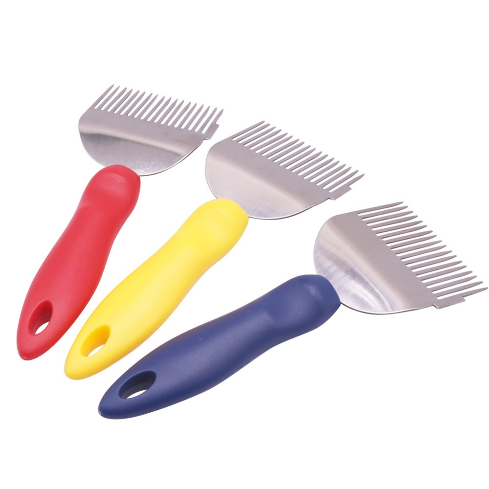 10 Pcs Plastic Handle Uncapping Forks Multi-cut Honey Fork Needle Cutter Capsulator Beekeeping Tools Stainless Steel Honey Fork