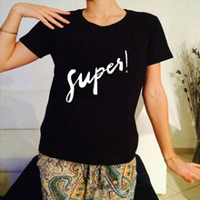 Fashion 2019 Summer Harajuku T Shirt Women Supes Letter Printed O Neck Tee Tops Casual Couple Clothes T-shirts