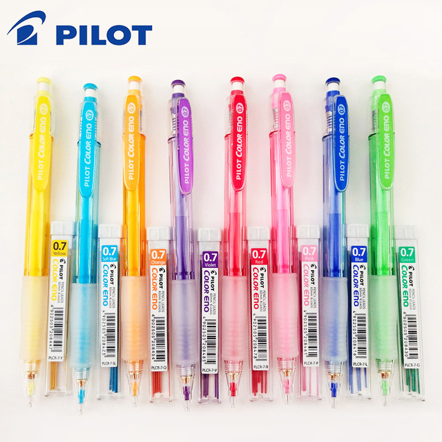 Pilot HCR 197 Eno 0.7mm Mechanical Pencil with 8 Colors Set Lead Pencils 0.7 Mm Lead for Office & School Supplies Stationery