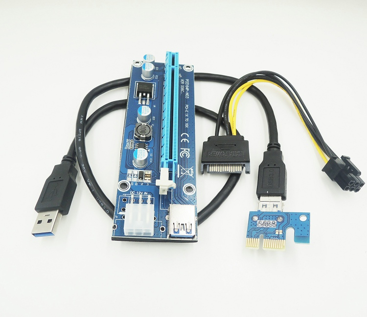 2017 NEW PCI E Express 1X to 16X USB 3 0 Riser Card with USB 3