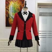 Anime Kakegurui Jabami Yumeko Cosplay Costumes Japanese School Girls Uniform custom made