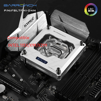 Barrowch водяное FBLTFHI 04N Процессор кулер для Intel 115X X99 X299 RGB OLED температура цифровой дисплей 2,0 5 В освещения