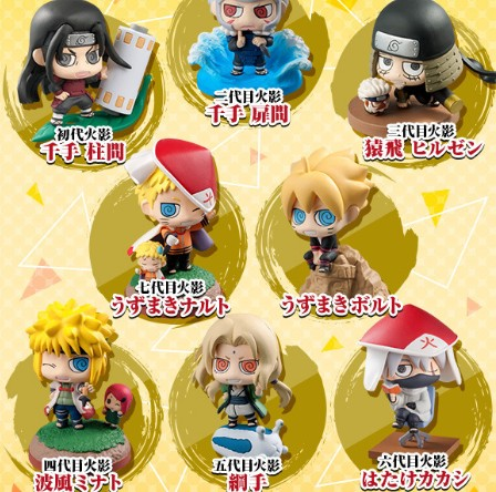 NEW hot 4cm 8pcs/set Naruto Uzumaki Boruto Senju Tobirama Senju Hashi Tsunade Kakashi Action figure toys doll Christmas no box new hot 23cm naruto haruno sakura action figure toys collection christmas gift doll no box