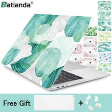 Laptop Case For Macbook Air Pro Retina 11 12 13 15 touch bar .3 inch 2019 with Touch ID Art leaf Printed Hard Bag