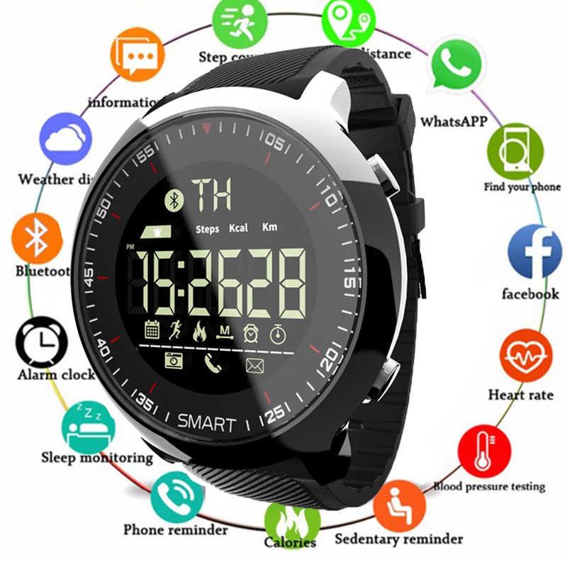 Relógio inteligente Esporte pedômetros Lembrete Mensagem Bluetooth À Prova D' Água Ao Ar Livre de natação homens smartwatch para Android ios telefone PK Q8