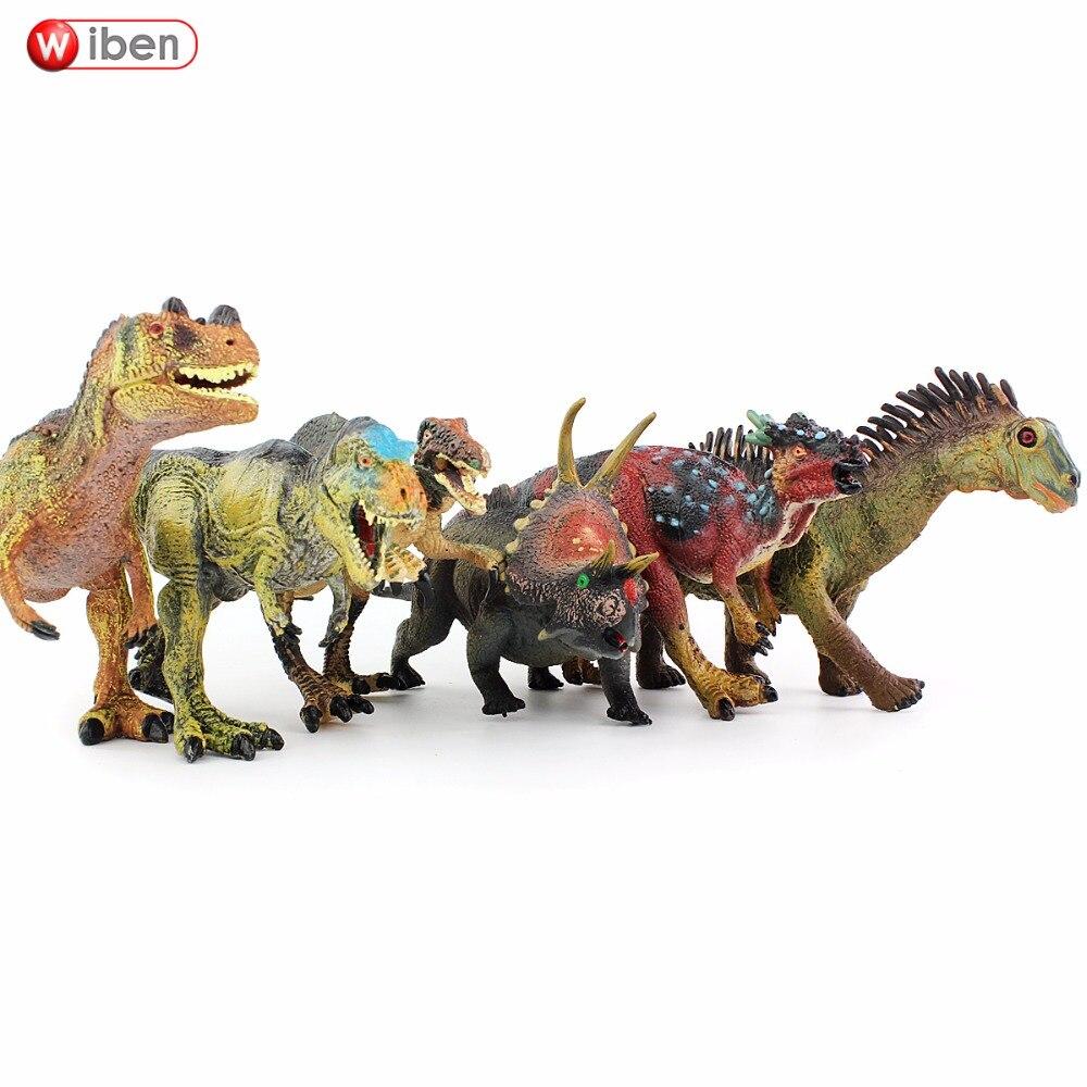Wiben 6 pcs / lot Tyrannosaurus Rex Carnotaurus Agustinia Deinonychus - Tokoh mainan