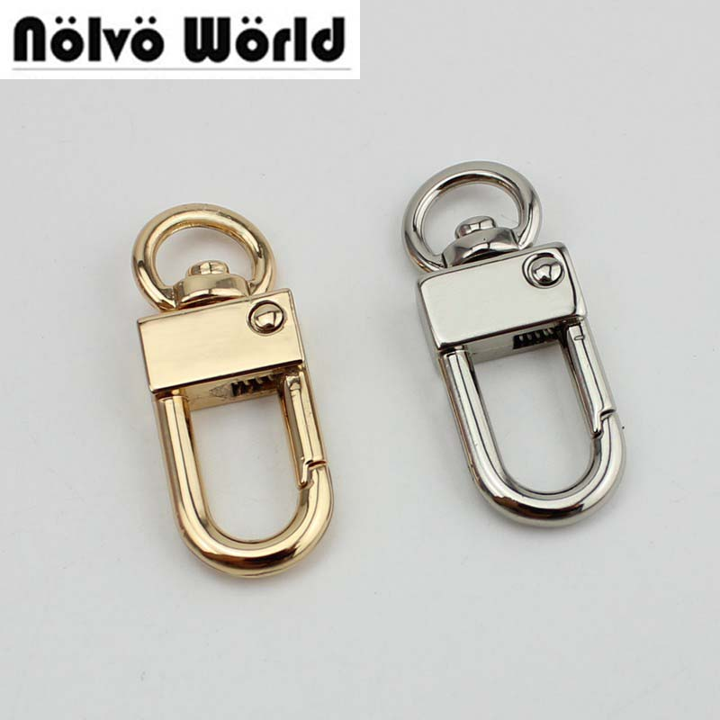 50pcs high quality 5 colors 9mm top ending gold silver tone trigger snap hook clasp metal clip swivel dog leash hardware цена