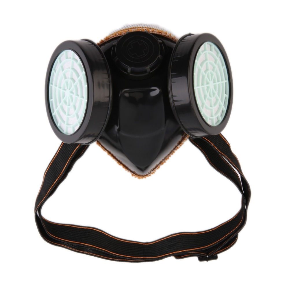 New Protection Filter Dual Gas Mask Chemical Gas Anti Dust Paint Respirator Face Mask with Goggles Industrial Safety Wholesale protection filter dual anti dust spray paint industrial chemical gas respirator mask glasses set black new high quality