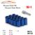 16 UNIDS + 1KEY tornillos tuercas antirrobo tuercas de las ruedas de acero del neumático de rueda de Coche antirrobo tornillos M12 * 1.5 Juego Para Toyota honda kia rueda perno