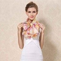 2017 New Winter 100 Real Silk Scarf Wrap Shawl Hijab For Women Long Style Digital Print