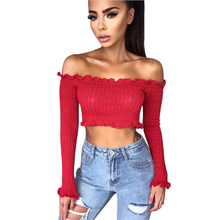 Online Get Cheap Off The Shoulder Sweaters Aliexpresscom Alibaba