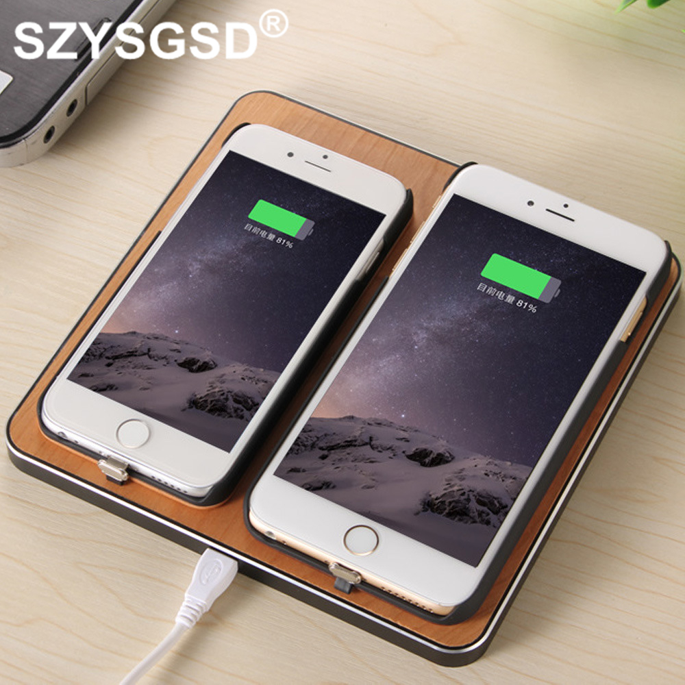 SZYSGSD Dual Wooden Fast QI Wireless Charger for Samsung