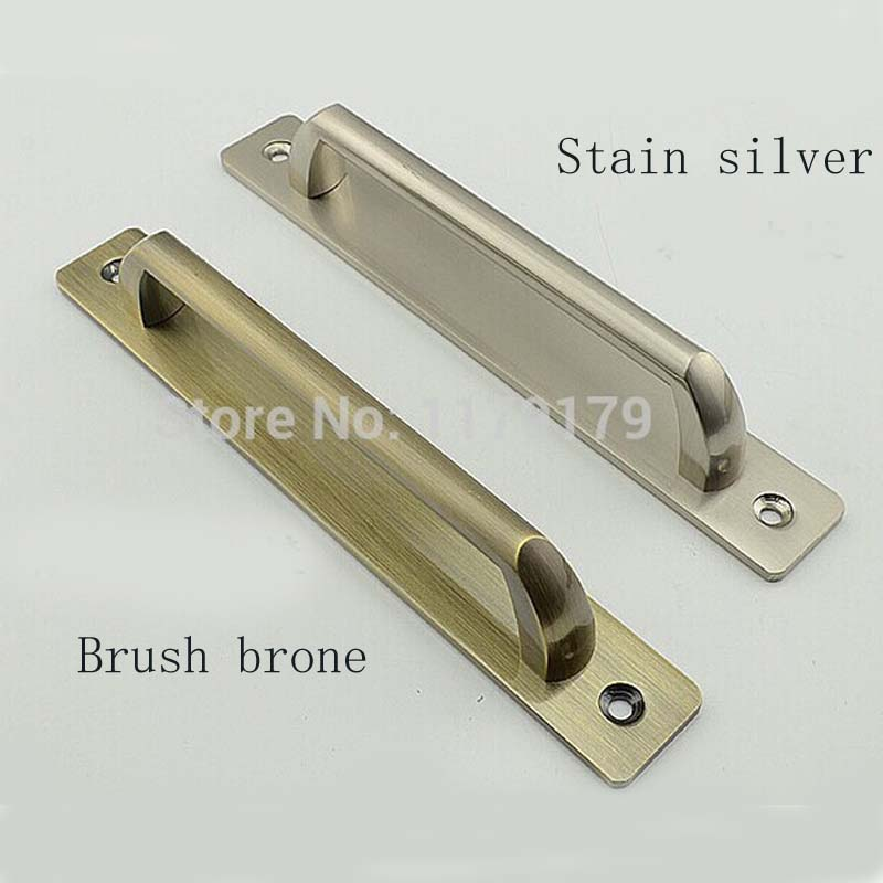 free shipping hole spacing 128mm(5) antique sliding door Fire door handles pulls stain silver unfold install door handles pulls boxpop lb 080 35