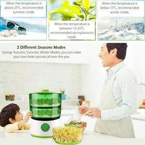 Image 5 - Fabricant de germes de haricot mise à niveau domestique Thermostat Intelligent de grande capacité graines vertes croissant Machine à germer automatique Biolomix