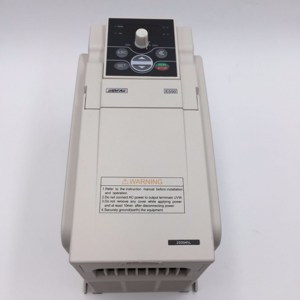 4KW 5HP VFD Inverter 3Phase 380V 9.5A 1000HZ CNC Engraving Spindle Motor Speed Controller E550-4t0040L 380v coil ac contactor 4kw 5 5 hp 3 phase motor control magnetic starter 6 8 11a