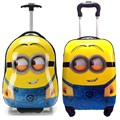 "Minions children anime luggage suitcase variety Despicable Me cartoon Travel 16"" 17""18 inch Pull rod box child gift Boarding box"