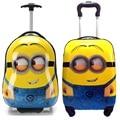 """Variedad de dibujos animados Despicable Me Minions niños anime equipaje maleta de Viaje 16 """"17"""" 18 pulgadas Tirón caja de Embarque caja de la barra de regalo del niño"""