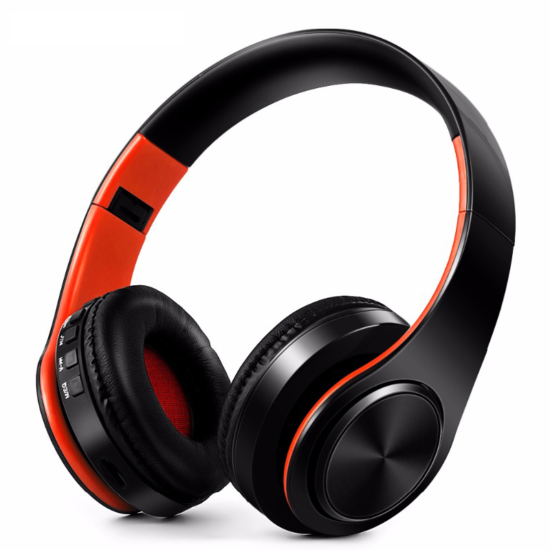 Bluetooth Headphones Wireless Headsets Stereo Foldable Earphones with Fm Headset music Mic for Handfree Mp3 Player ks 509 mp3 player stereo headset headphones w tf card slot fm black