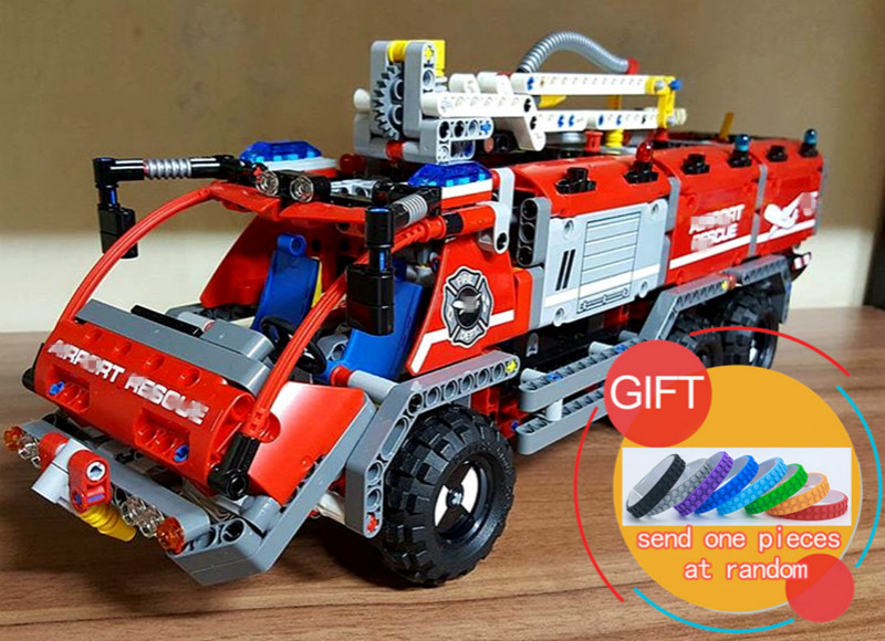 20055 1180Pcs Technical Series The Rescue Vehicle Set Children Educational Building Blocks Toys Gift Compatible with 42068 lepin decool 3114 city creator 3in1 vehicle transporter building block 264pcs diy educational toys for children compatible legoe