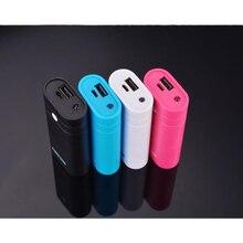 Soporte para cargador de batería USB, carcasa para banco de energía, Kit DIY 2x18650 Mini con linterna para iPhone Xiaomi Huawei