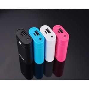 Image 1 - USB Caricabatteria Supporto Accumulatori e caricabatterie di riserva Scatola Borsette Caso Kit FAI DA TE 2x18650 Mini Con La Torcia Elettrica per il iPhone Xiaomi Huawei