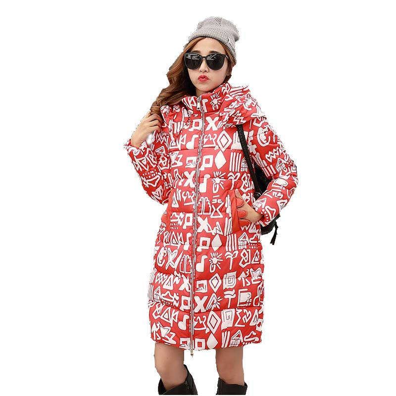 2016 winter Thick women s winter windbreaker jacket and long sections Korean Slim cotton coat