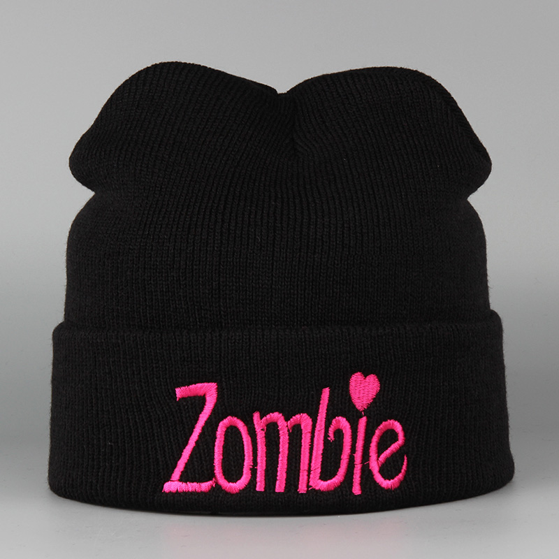 2016 Fashion Zombie Knitted Warm Beanies Ski Skullies Winter Hats For Men And Women De Inverno Gorros Bonnets Mask Caps 2016 new fashion letter gorros hats bonnets