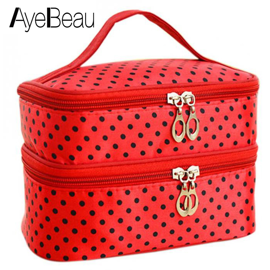 Suitcase For Necessaire Toilet Beauty Vanity Travel Toiletry Kit Cosmetic Makeup Make Up Bag Case Handbag Organizer Women Pouch