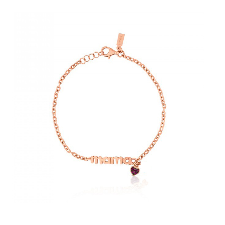 Hot Sale Rose Gold Bracelet for Women Heart Charm Bracelets Party Jewelry Gift For MAMA Mom