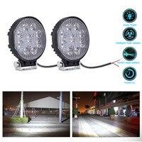 New 4 Inch 27W LED Work Light Floodlight 12V 24V Round LED Offroad Light Lamp Worklight