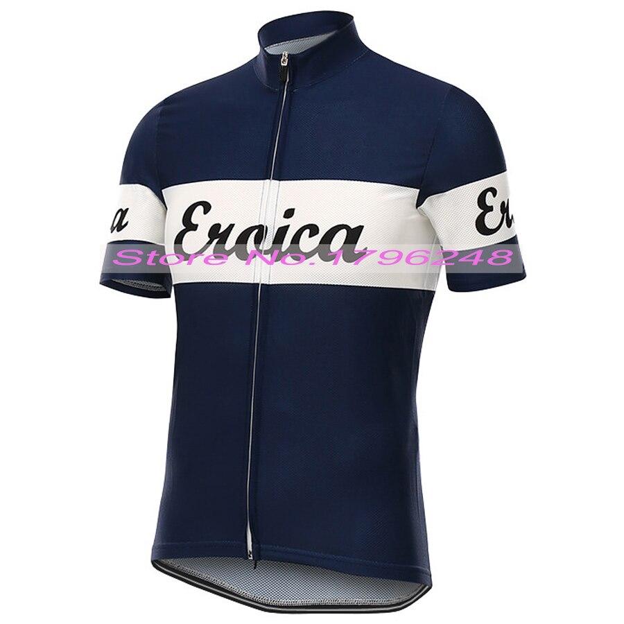 Prix pour NEW Hot 2017 Classique Bleu Foncé Jersey pro/COURSE sur route équipe De Vélo Pro Cycling Jersey/Porter/Clothing/respirant