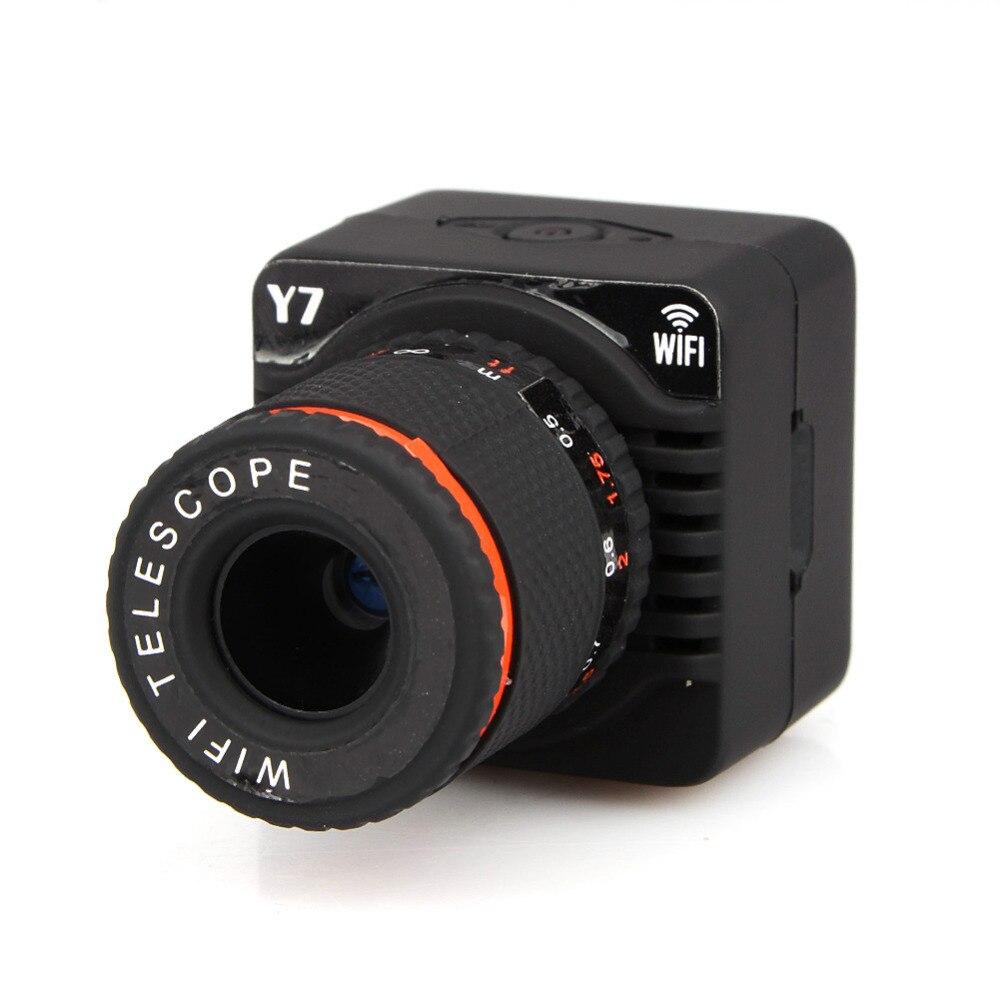 US $31 4 18% OFF 2018 Y7 Wifi P2P Mini Camera Mobile Phone Telescope 50X  Zoom Lens Telescope Camera Wireless Wifi AP Focus Camcorder Camera-in Mini