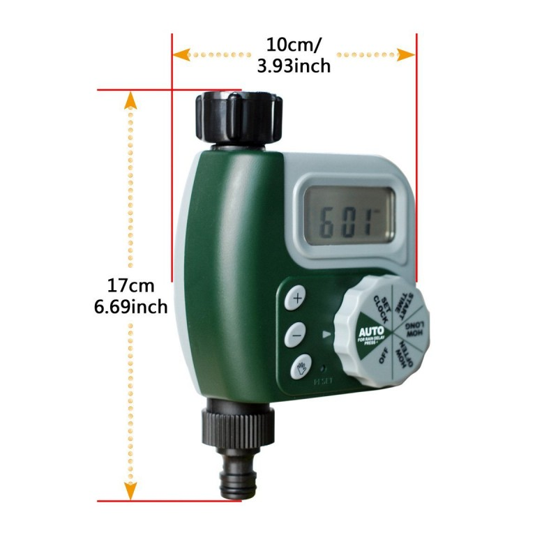 25m 8/11 Garden DIY Micro Drip Irrigation System Plant Self Automatic Watering Timer Garden Hose Kits with Adjustable Dripper