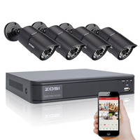 ZOSI 8CH DVR 720P HDMI CCTV System Video Recorder 4PCS 1 0MP Home Security Waterproof Night
