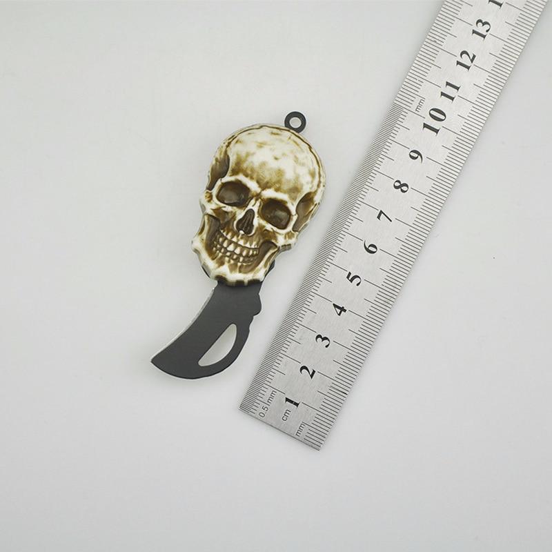 New Necklace  Utility Knife Creative Portable Outdoor Portable Survival Knife Key Hang Buckle Mini Pendant Folding Knife