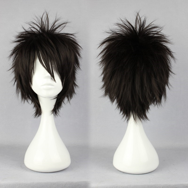 30cm Cute Sexy Short Layered Hairstyles Haircuts Male Black Cosplay