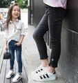 Мода Девушки Джинсы 2015 Осень одежда новое прибытие Корейский дикий ребенок брюки Девушки Тонкий обтягивающих брюках футов для 2-6 Т