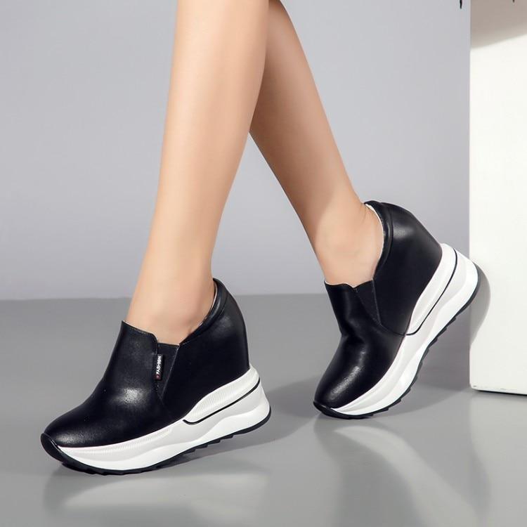Escondido Casuales Negro Tobillo Aumento Zapatos De Cuñas Zapatillas Primavera Altura Tacón Botas blanco Deporte {zorssar} Mujer Mujeres Plataforma Otoño qtOwSAzTx
