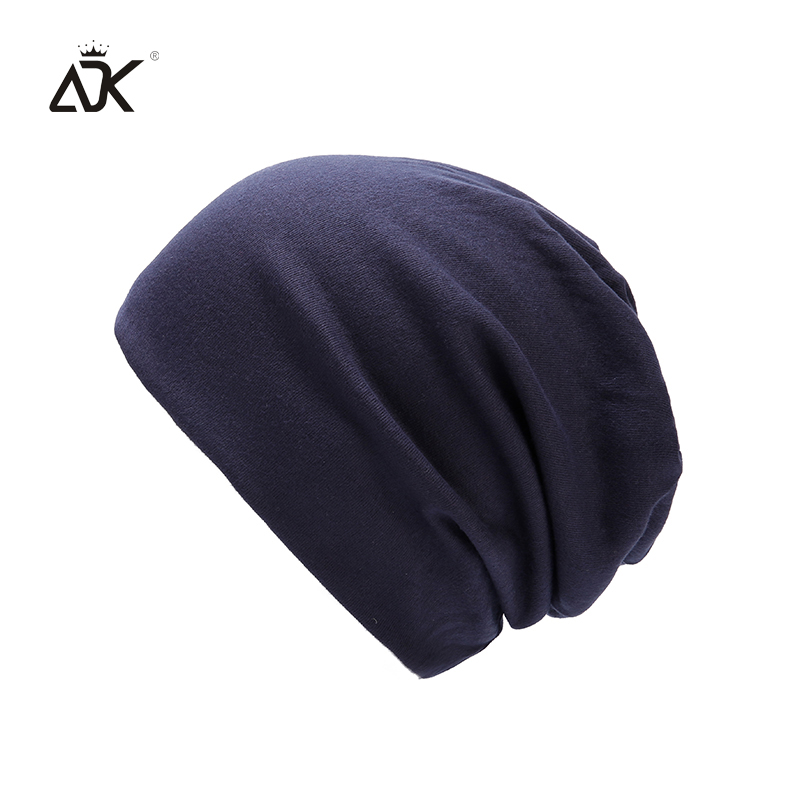 Cotton Acrylic Skullies Beanies For Men Winter Cap Women's Solid Color Outdoor Bonnet Slouchy Knitted Hat Unisex Baggy Beanies