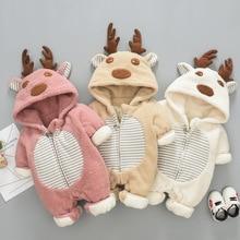 Christmas Clothes Baby Winter Jumpsuit Infant Newborn Overalls for Newborns Fleece Girl Boy Outdoor Rompers