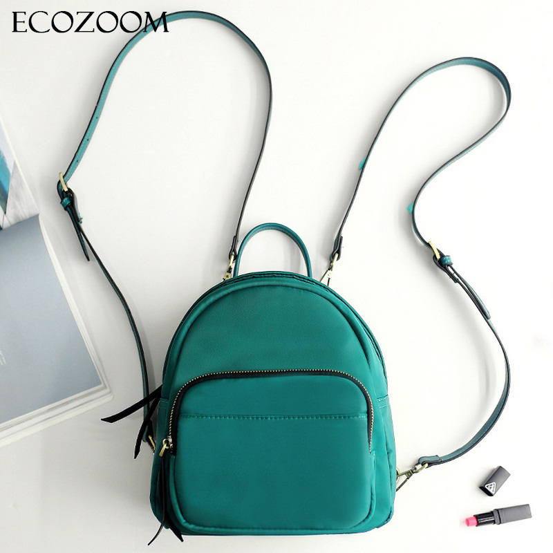 Women's Simple Oxford Small Backpack Teenage Girls Mini Bagpack Women Back Pack Fine Shoulder Strap School Bags Mochila Escolar