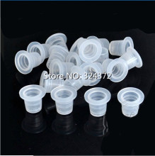 100pcs 9mm Small Size Clear White Tattoo Ink Cups Caps SupplyM15020514# Tattoo Ink Cup Accessories Cup