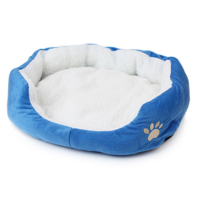Candy Color Soft Cotton Cat Dog Bed Winter Warm Teddy Cat House Kitten Cat Sofa Bed Pet House Mat for Small Medium Dog Cat 3