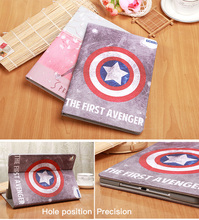 For Apple Ipad mini 1234 Cases High quality PU Leather Flip Stand Pattern Case For iPad 23456 Cover Funda Skin Shell Captain USA цена 2017